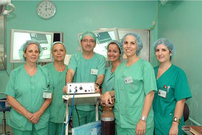 Profesionales que participan en la intervención de la endometriosis