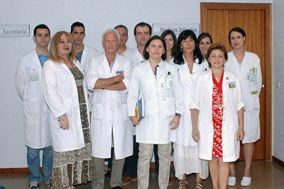 Profesionales de Oncología Radioterápica del Hospital Reina Sofía.
