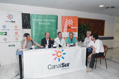 'La hora de Córdoba', de Canal Sur Radio, se emitió el miércoles desde el hospital.