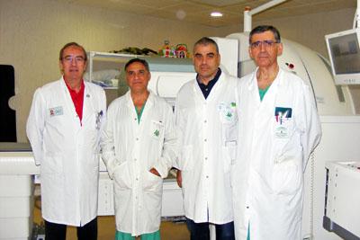 El doctor Latre -a la izquierda-, recientemente fallecido, participó en el desarrollo de la técnica.