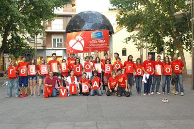 Estudiantes de Arte Dramático dicen sí a la donación tras el flashmob