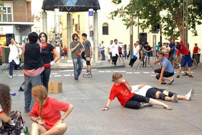 Coreografía realizada por los estudiantes cordobeses