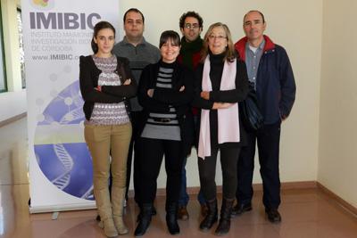 Equipo de investigadores del IMIBIC que lidera Manuel Ruiz Rubio, a la derecha.