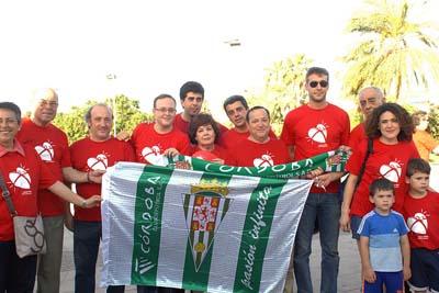 Apoyo al Córdoba Club de Fútbol antes de iniciar el recorrido
