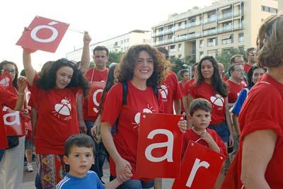 Grandes y pequeños participaron en la V Marcha por la Donación