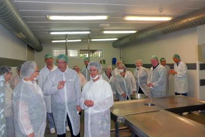 Delegación visita la cocina del hospital