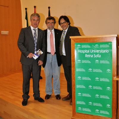 Los endocrinos Rafael Palomares, Antonio Escribano y Juan Antonio Paniagua