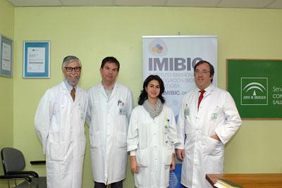 Los doctores Pérez Jiménez, López Laso, Gil Campos y Camino León