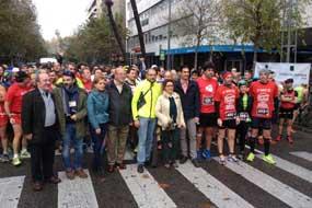 Autoridades y organizadores a la salida de la carrera