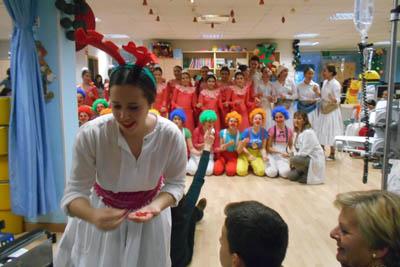 Actuacion en la Ciberaula de alumnas de danza
