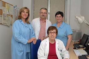 Médicos y profesionales de enfermería de la Unidad de Trastornos Respiratorios del Sueños del Hospital Reina Sofía