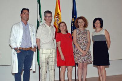 Organizadores y ponentes de la jornada