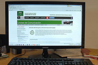 La web de hospital desde la que se puede realización la votación del lema
