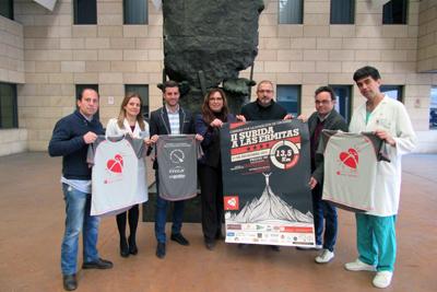 María Ángeles Luna, en el centro, acudió a la presentación del cartel junto a otros responsables y organizadores del evento