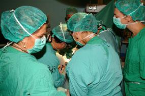 Imagen de archivo de un trasplante realizado en el Hospital Reina Sofía
