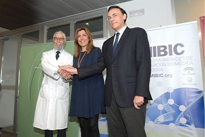 Francisco Pérez jiménez, Susana Díaz y José Carlos Gómez Villamandos