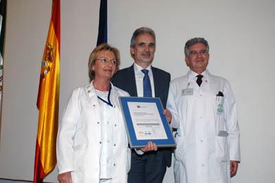 El consejero de Salud con los responsables de Cirugía Torácica