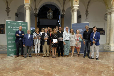 Profesionales del hospital y del Colegio de Médicos en la Diputación