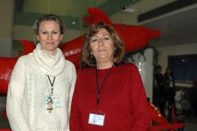 Teresa Justo y Rosa Fernández, responsables de la organización del concurso de tartas