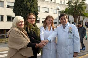 María Luisa Cobos, Marí Ángeles Luna, Marina Álvarez y Enrique Aranda