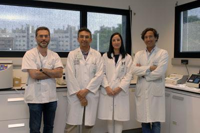 Los doctores Javier Delgado, José López Miranda, Ana León y Pablo Pérez
