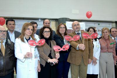 Apoyo de sanitarios, responsables y pacientes a la semana de la hematología