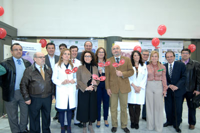 Inauguración de la exposición con motivo de la 'Semana de la Hematología'