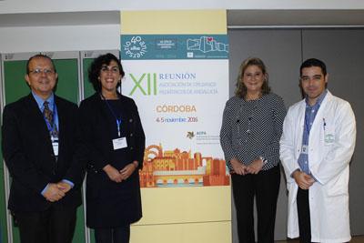 Organizadores el encuentro y responsables sanitarios