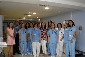 La delegada de Salud Mª Angeles Luna visita el club periférico de Diálisis Perpetuo Socorro