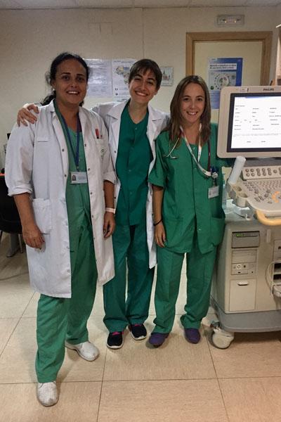 En la imagen, las coordinadoras de las VII Jornadas de Cardiólogos Pediátricos Andaluces, las doctoras María Ángeles Tejero, Elena Gómez y María José Arroyo del hospital Reina Sofía