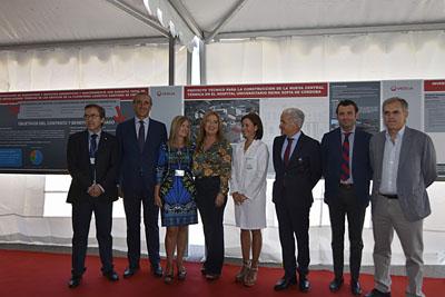 Representantes de los tres hospitales de la provincia y de Veolia, junto con autoridades