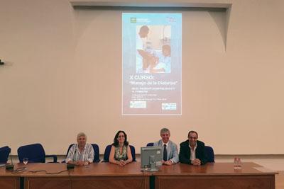 El doctor Rafael Palomares y la directora del Plan Integral de Diabetes de Andalucía María Asunción Martínez