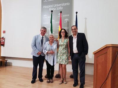 Rafael Palomares, Marisa Amaya, María Asunción Martínez y Antonio Hormigo en el X Curso sobre manejo de la diabetes celebrado en el Hospital Reina Sofía