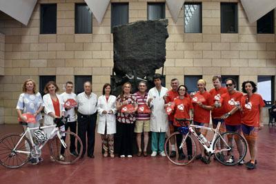 M Ángeles Luna, Valle García, José María Dueñas, asociaciones de trasplante y la Federación Internacional de Deportistas Trasplantados