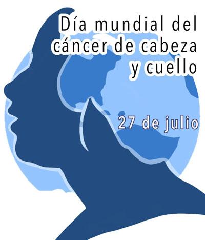Logo del día internacional del cáncer de cabeza y cuello