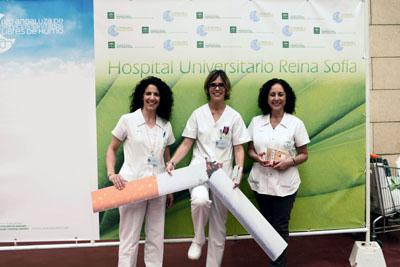 Profesionales del Hospital Celebran el Día Sin TAbaco