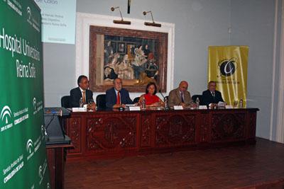 Inicio de la presentación de la conferencia sobre cribado cáncer de colon