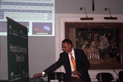 El doctor Hervás expone datos epidemiológicos del cánncer de colon
