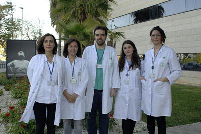 En la foto, de izquierda a derecha, Eva Iglesias, Valle García, José Manuel Benítez, Rosario Medina y Patricia Aguilar