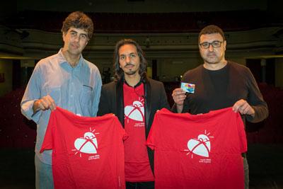 Farruquito en el Teatro Góngora junto al Dr. Dueñas y José Antonio Ramírez