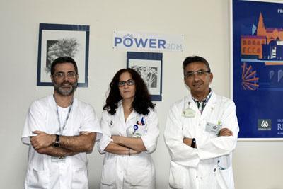 Javier Delgado, Isabel Pérez y José López Miranda, investigadores del estudio multicéntrico 'POWER2DM '
