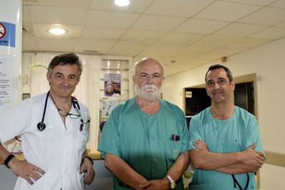 Los cardiólogos Amador López Granados, José María Arizón y Juan Carlos Castillo