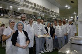 Profesionales del equipo de Cocina del Hospital Universitario Reina Sofía