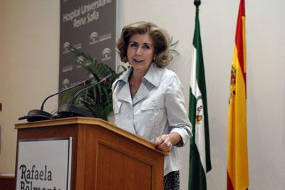 Rafaela Belmonte durante su intervención