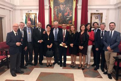 López Miranda y Requena miembros de la Real Academia de Medicina y Cirugía de Sevilla