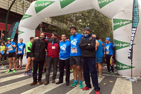 Los organizadores de la IV Carrera Subida a las Ermitas por la donación de órganos en la salida