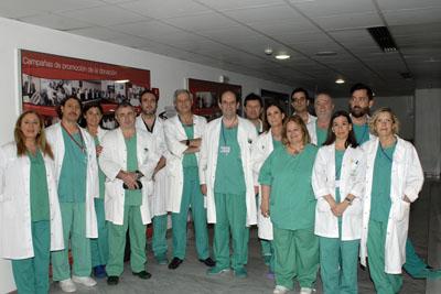 Equipo de profesionales que ha participado en el trasplante hepático auxiliar infantil