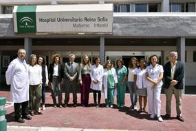 Responsables y profesionales sanitarios junto a colaboradores del futuro banco de donación de leche materna