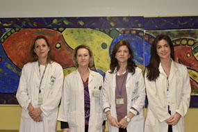 María Pleguezuelo, Elena García, Ana Romero y Carmen Díaz
