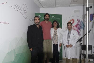 Antonio Agredano, Chico Herrera, Pilar López y José Rumbao
